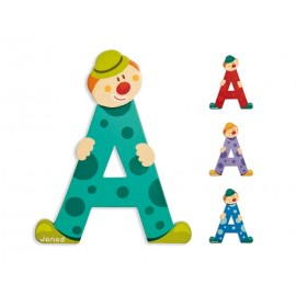 "Lettre alphabet clown ""A"" - JANOD"