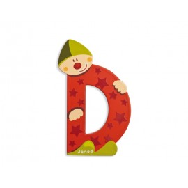 "Lettre alphabet clown ""D"" - JANOD"