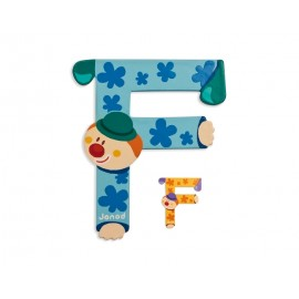 "Lettre alphabet clown ""F"" - JANOD"