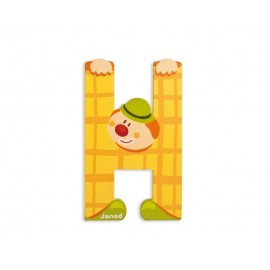 "Lettre alphabet clown ""H"" - JANOD"