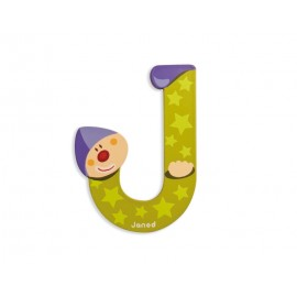 "Lettre alphabet clown ""J"" - JANOD"