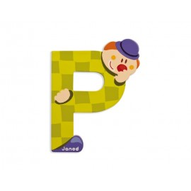 "Lettre alphabet clown "" P"" - JANOD"