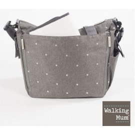 Sac à langer gris Walking mum