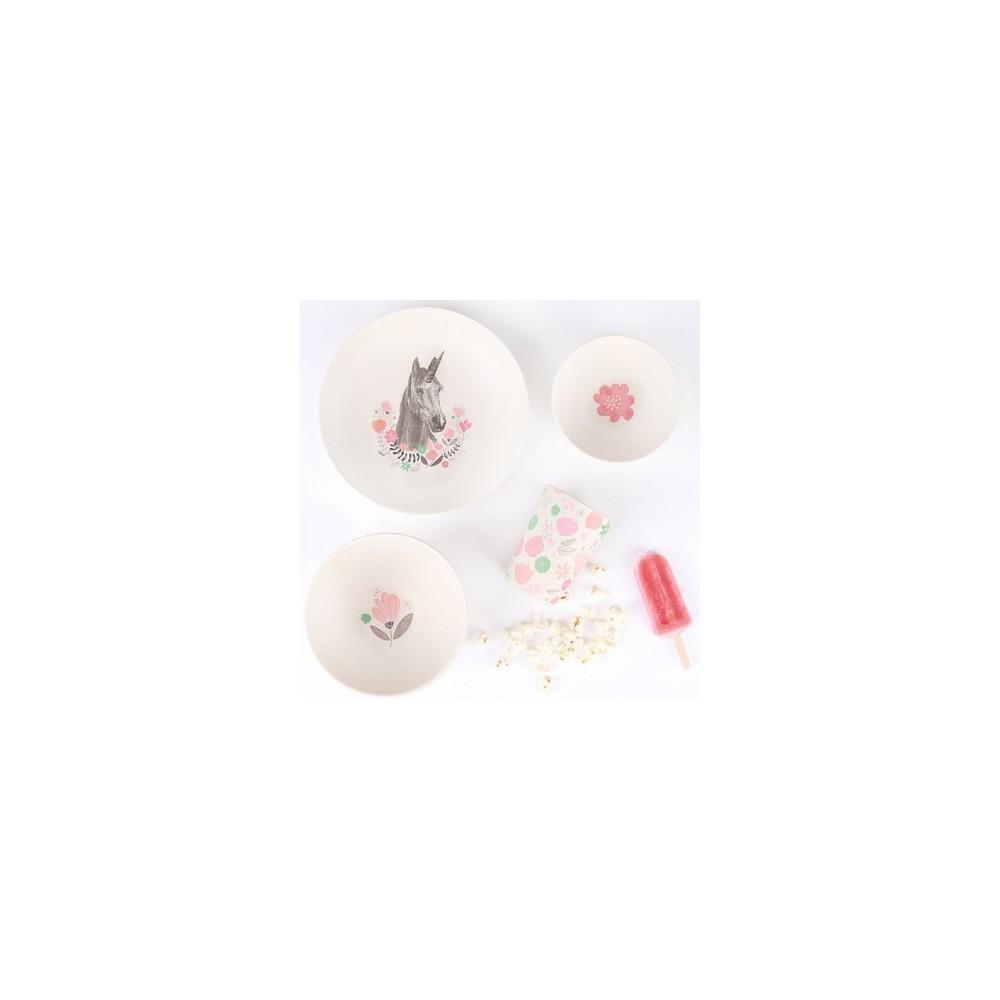 Coffret Vaisselle Bambou T-REX SUPPER