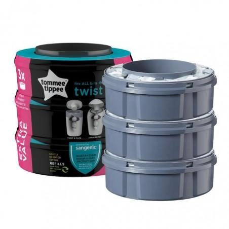 Recharges multipack x3 Sangenic Clic & Twist TOMMEE TIPPEE