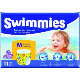 Maillot de bain couche jetable SWIMMIES M +12kg