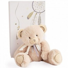 Peluche Ours beige 22cm Attrape-Rêves Doudou & Compagnie