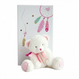 Peluche Ours Rose Attrape-Rêves Doudou & Compagnie