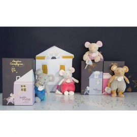 Peluche en pyjama la petite souris va passer Doudou & Compagnie