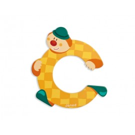 "Lettre alphabet clown ""C"" - JANOD"