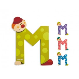 "Lettre alphabet clown ""M"" - JANOD"