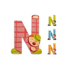 "Lettre alphabet clown ""N"" - JANOD"