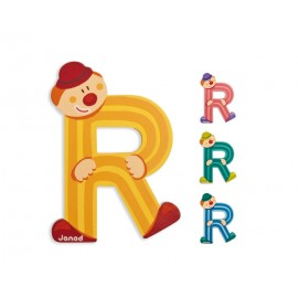 "Lettre alphabet clown "" R"" - JANOD"
