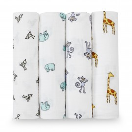 LANGES x4 swaddle jungle jam Aden & Anaïs