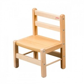 Chaise basse vernis naturel COMBELLE